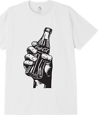 Obey Drink Crude Oil Short Sleeve T-Shirt X Large White