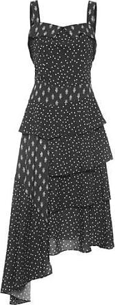 Lebôh Vestido Assimétrico Decote Quadrado Lebôh - Preto