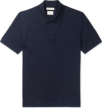 Bottega Veneta Cotton-piqué Polo Shirt - Navy