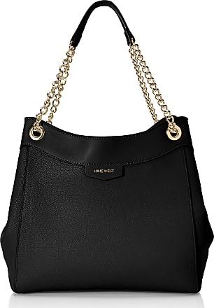 Nine West Womens Cara Marea Shoulder Bag, Black, Large