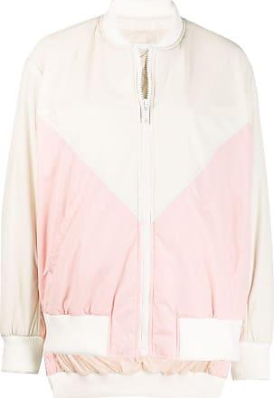 Yves Salomon - Army colour-block zipped jacket - NEUTRALS