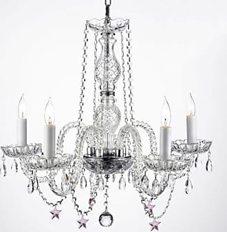 Gallery T40-607 25 Tall 5 Light 1 Tier Chandelier with Crystal