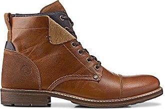 Cox Herren Herren Schnür-Boots aus Leder, Freizeit-Stiefel in Braun mit  robuster c5d6f13166