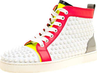 70be1b8df82 Christian Louboutin Leather Louis Spikes Lace Up High Top Sneakers Size 36.5