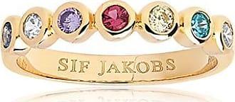 Sif Jakobs Jewellery Ring Sardinien Sette - 18K vergoldet mit bunten Zirkonia
