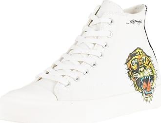 Blanc féroce Ed Baskets à hautes imprimé Hardy tigre Homme qAx084