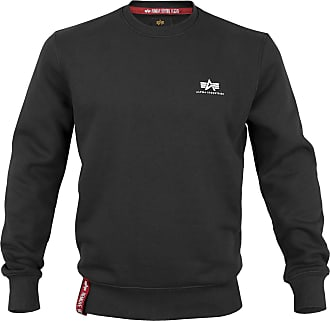 Alpha Industries Basic Sweater Small Logo schwarz, Größe XXL