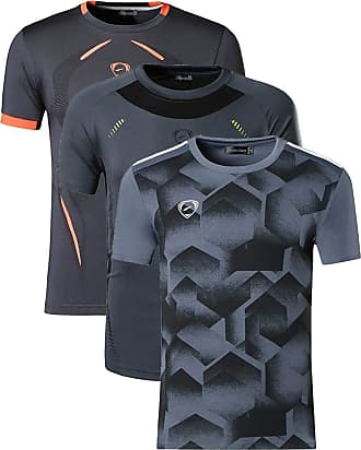Jeansian Mens 3 Packs Sport Slim Quick Dry Short Sleeves Compression T-Shirt Tee LSL187_204_3225 Gray XL