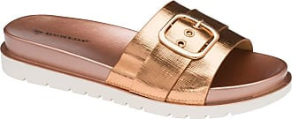 Dunlop Flip Flops Toe Post Slip On Sandals Flat Cushioned (Thea Rose Gold, Numeric_8)