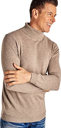 WoolOvers Mens Cashmere Merino Long Sleeve Premium Fine Knit Zip Neck Pullover Knitted Sweater Jumper