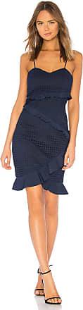 Bardot Fae Lace Dress in Navy