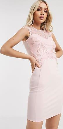 Lipsy Kleid mit Spitzeneinsatz in Perlrosa