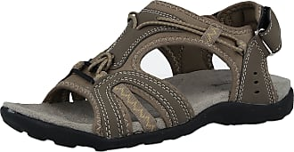 Cushion-Walk Ladies Cushion Walk Active Faux Suede Slip On Toggle Sports Walking Hiking Trail Outdoor Trainers Sandals Size 3-8 (UK 8, Khaki Green)