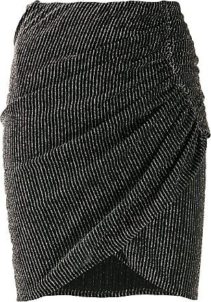 Iro Tacite striped mini skirt - Black