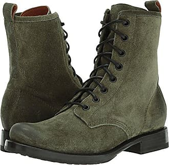 7a7c7a24f Frye Womens Veronica Combat Boot, Forest Soft Oiled Suede, 6 M US