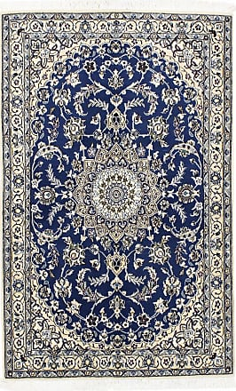 Nain Trading 176x112 Tappeto Orientale Nain 9La Beige/Blu Scuro (Lana / Seta, Persia/Iran, Annodato a mano)
