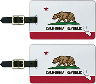 Graphics & More Graphics & More California Ca Home State Luggage Suitcase Id Tags-Flag, White