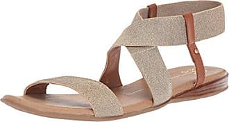 xoxo Womens Bailor Flat Sandal, Light Gold, M060 M US