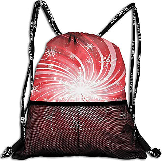 Red Swirl On White Backgound Sports Gym Bag with Shoes Compartment Travel Duffel Bag for Men Women
