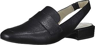 Kenneth Cole Reaction Womens Bavi Menswear Inspired Slingback Loafer Flat, Black, 6 Men/ 5 UK Wide