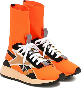 Reebok Bolton Sock leather-trimmed sneakers