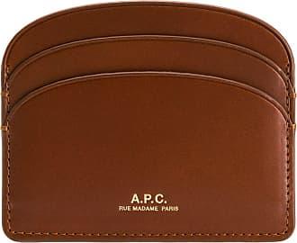 A.P.C. Porta cartões com logo - Marrom