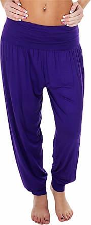 Love my Fashions Womens Pants Trousers Alibaba Harem Ankle Cuff, Plain - Purple, XX-Large/XXX-Large