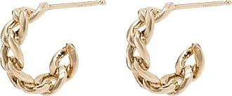 Zoë Chicco Par de brincos de argola médio de ouro 14k - YELLOW GOLD