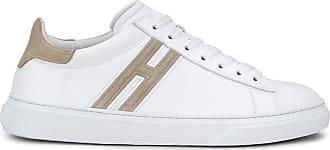 Hogan H365, BIANCO,BEIGE, 10.5 - Scarpe