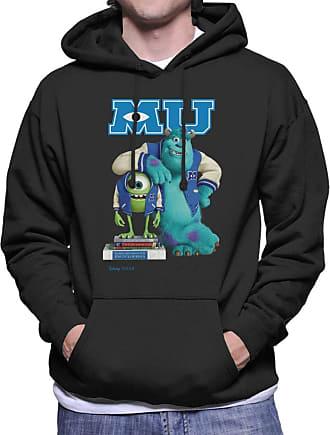 Disney Classic Monsters University Mike and James Mens Hooded Sweatshirt Black