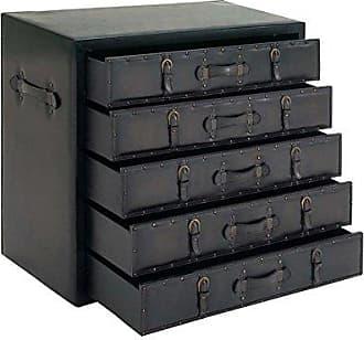 UMA Enterprises Inc. Deco 79 55738 Wood Leather Dresser, 36 x 32, Dark Espresso