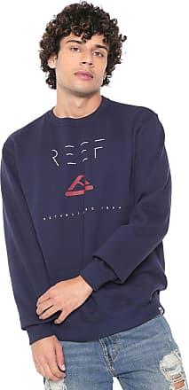Reef Moletom Flanelado Fechado Reef Minimalism Azul-marinho