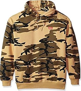 6e70ecacd3c Brixton Mens Stith Relaxed Standard Fit Hood Fleece Sweatshirt, camo, XL