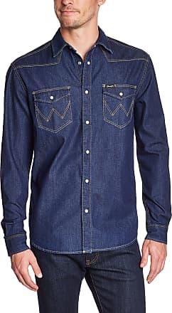 Wrangler Mens L/S CLASSIC WESTERN DARK INDIGO Classic Long Sleeve Formal Shirt, Blue (Dark Indigo), X-Large