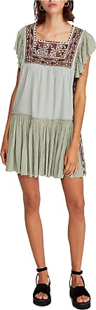 Free People Free People Womens Day Glow Mini Dress (S) Green Combo