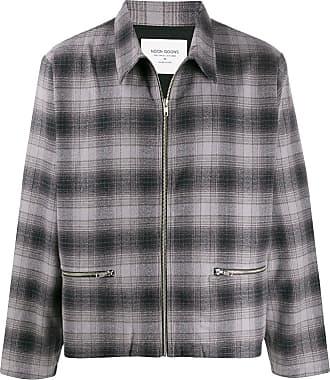 Noon Goons check pattern shirt jacket - Cinza