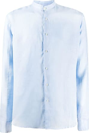Peninsula Camisa gola mandarim Budelli - Azul