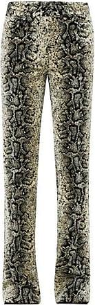 Giambattista Valli Snake-jacquard Velvet Trousers - Womens - Beige Multi