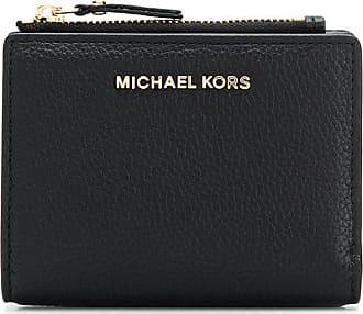Michael Michael Kors Porta-cartões com placa de logo - Preto