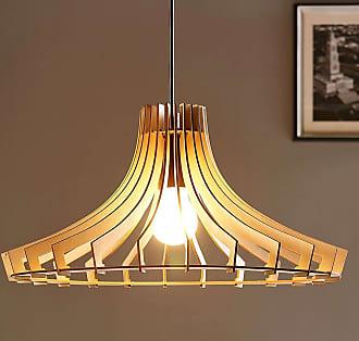 Lindby Lámpara colgante de madera Bela, Ø 47 cm
