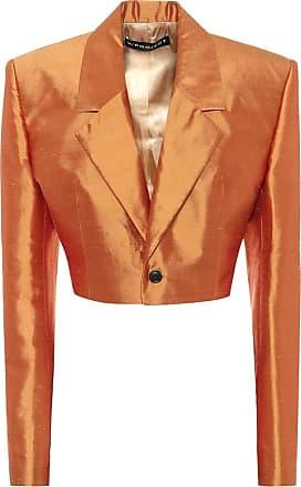 Y / Project Cropped silk-shantung blazer