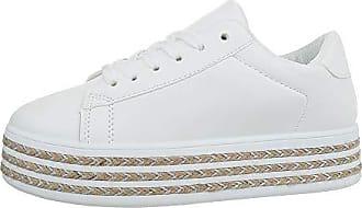 f8dacb6494bf53 Ital-Design Damenschuhe Freizeitschuhe Sneakers Low Synthetik Weiß Gr. 36