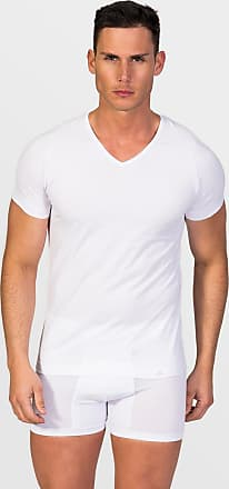 ZD Zero Defects Zero Defects white cotton v-neck t-shirt plus size