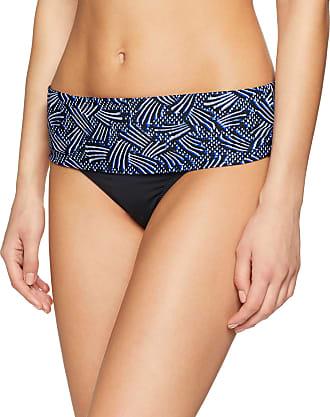 Pour Moi? Womens Odyssey Fold Over Brief Bikini Bottoms, Multicolor (Thunderstorm), 14