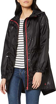 Joules Womens Golightly 206185 Raincoat, Black (Black Gloss Star Glossstar), (Size:12)