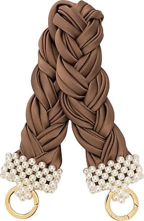 0711 small bead-embellished handle - Brown