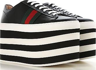 9659a41a203 Gucci Sneaker Femme Pas cher en Soldes Outlet, Noir, Cuir, 2017, 6.5
