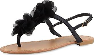 Scarpe Vita Women Beach Sandals Flower 164118 Black UK 5 EU 38