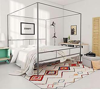 Dorel Home Products Novogratz Marion Canopy Bed, Drak Gray, Queen