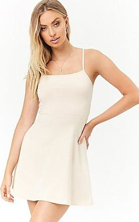 Forever 21 Forever 21 Cami Fit & Flare Mini Dress Beige
